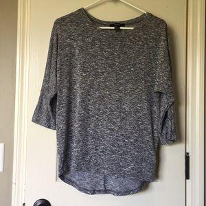 Loose fitting grey heathered light sweater